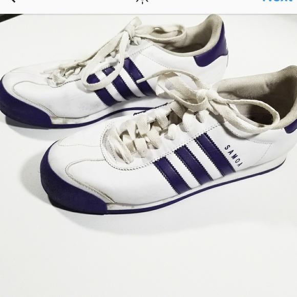 the best attitude ad6bb f295d Adidas Samoa Trefoil Stripes Basic Sneaker Shoes
